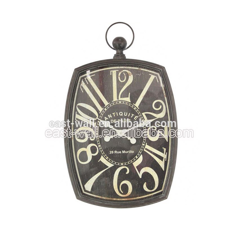Price Cutting Customized Logo Printed Creative Items Clock Vintage London