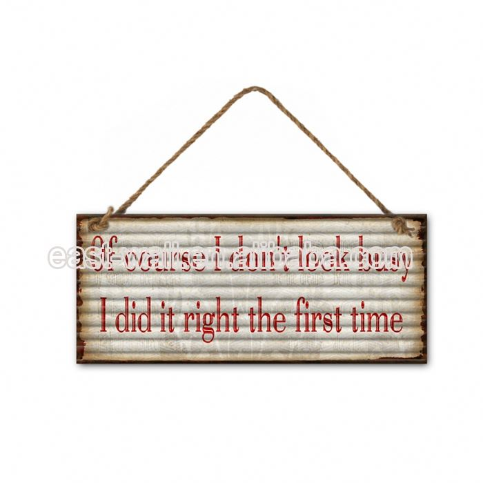 Quality Guaranteed Vintage Style Letter Wood Wall Plaque With Hooks Home Decoration Items Modern