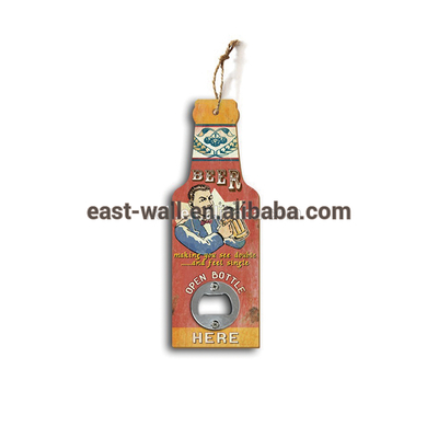 BEER OPEN BOTTLE 9MM MDF Vintage Beer Open Bottle Opener