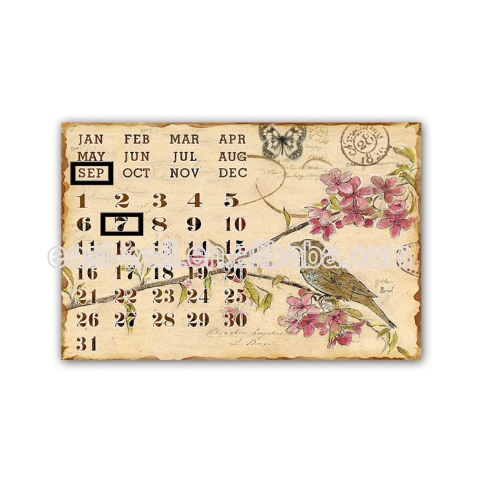 High Quality Design Metal Crafts wall hanging Calendar Plaques