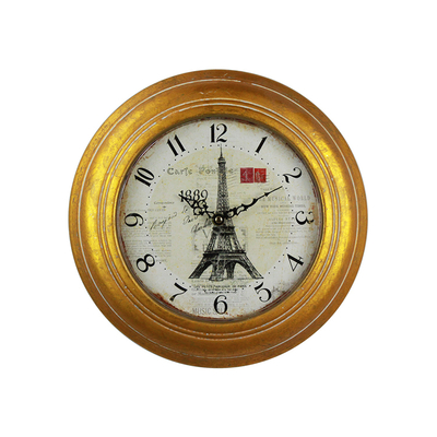 Retro Round Art Creative Fancy Antique Table Mechanical Electronic Iron Decorative Clock