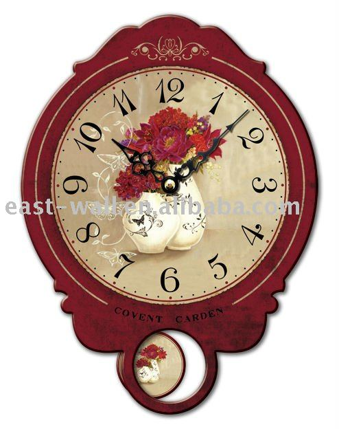 Home Decoration Wooden Pendulum Table Wall Clock