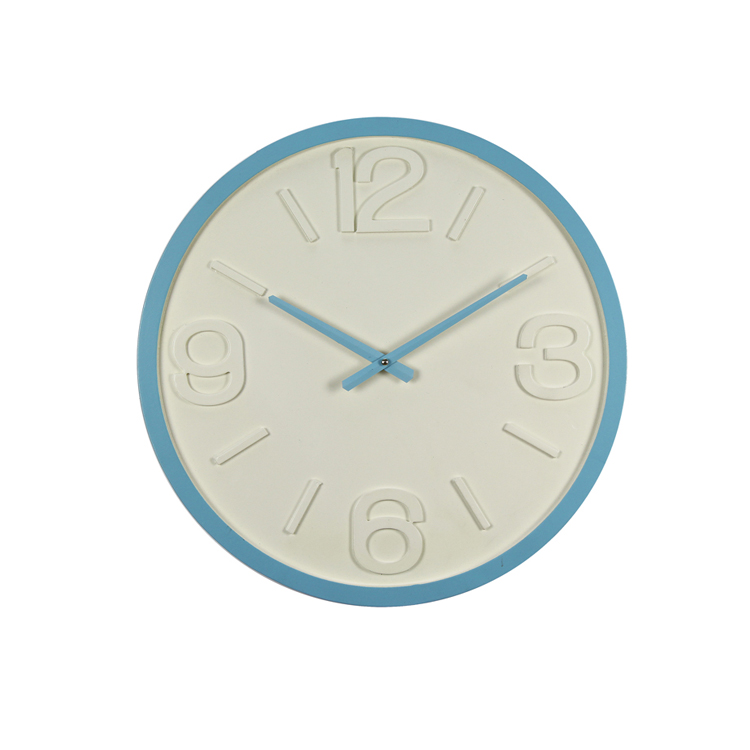 New Home Decoration Glass Surface Blue Digital Classic Wall Clock