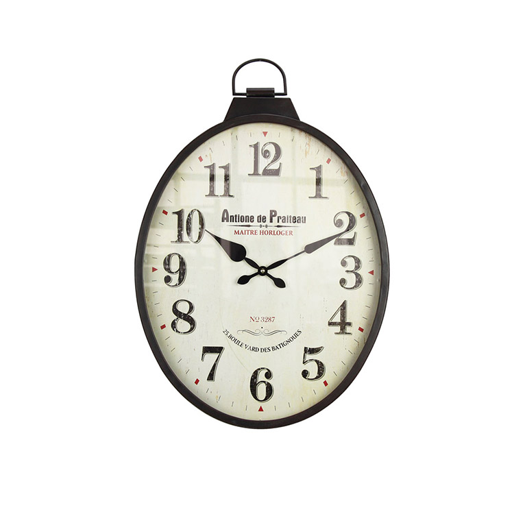EA6532 Factory Direct Digital Home Decoration Brown Wall Clock