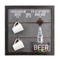 Good Quality Custom Design MDF Wall Hanging Plaque Bottle Opener with Hooks