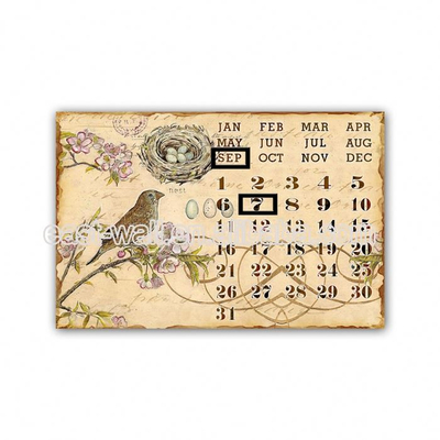 Home Design Decoration Calendar 2019 , Custom Wall Metal Printing Calendar