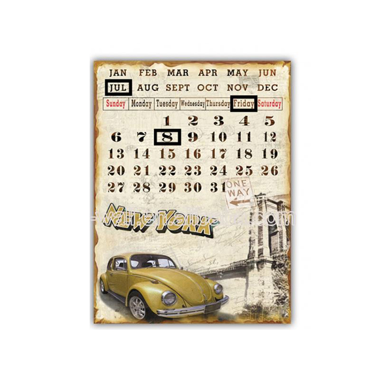 Hot Selling Fashionable Design Calendar Sign Wall Slate Plaques