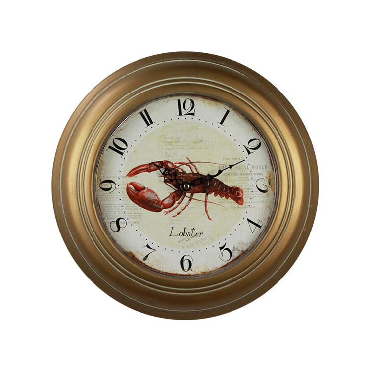 European Style Living Room Art Clock Wall Modern Design Iron Decorative Clock