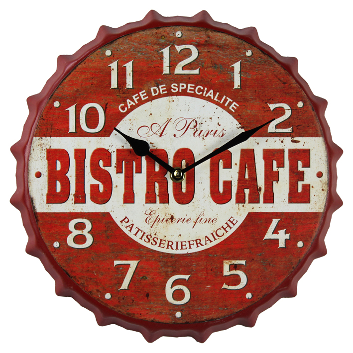 China New Designs Durable Bottle Cap Fashion Luxury Wall Clock Decor