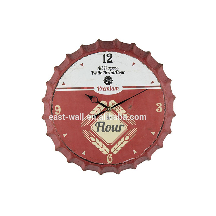RoHs CE Certified Beer Cap Metal Clock