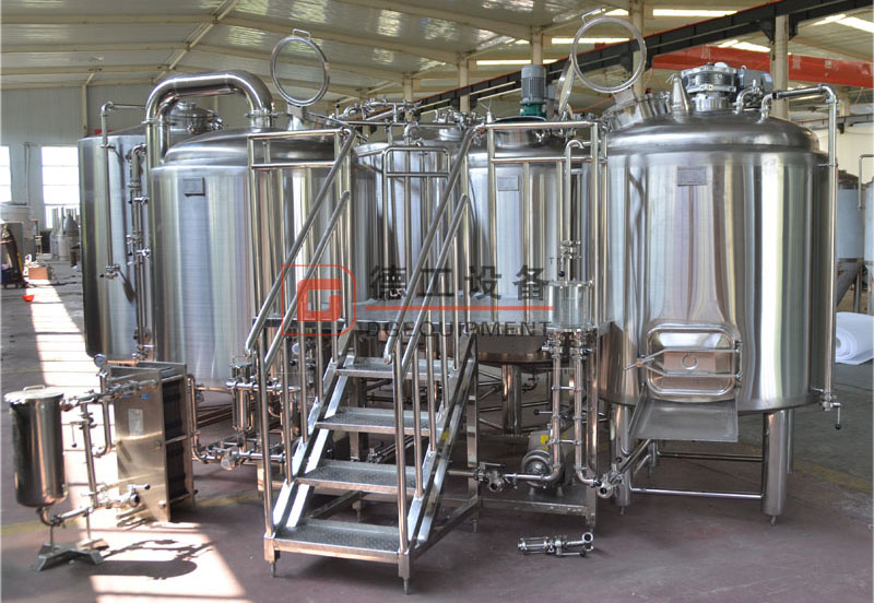 commercial brewery 3 vessels beer brewhouse