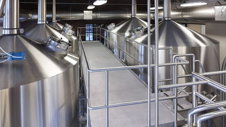 4-vessels brewhouse