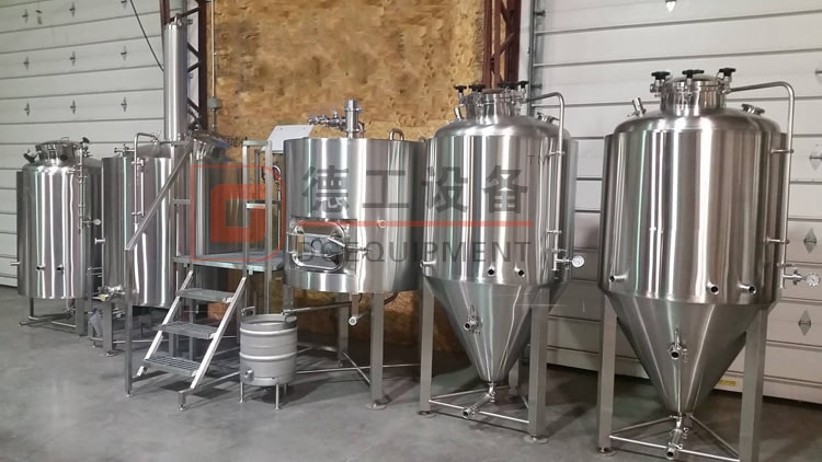 500L turnkey beer brewing system