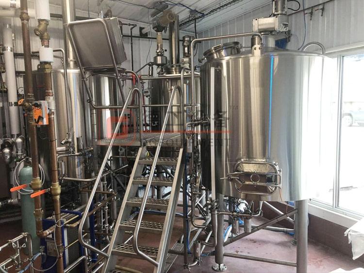 3 Vessels beer brewhouse:Mash/lauter tank+Boiling tank+whirlpool tank-beer brewing vessel