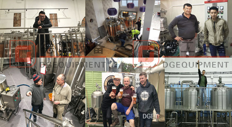 Install brewery equipment for customer