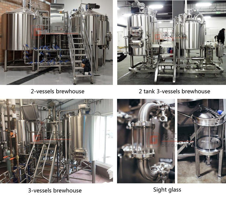 2/3/4 Vessel beer brewhouse