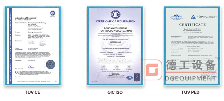 CE certification of DEGONG