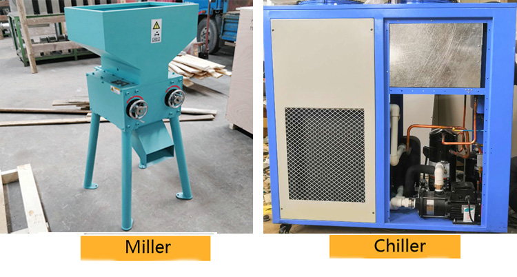 Malt miller and chiller