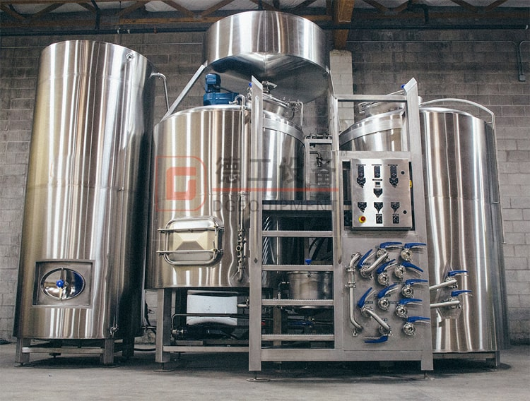 2 Vessels beer brewhouse with double hot liquid tank