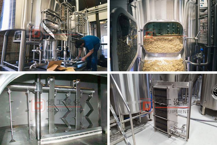 Beer brewhouse configruation details