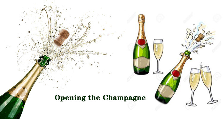 Opening the Champagne