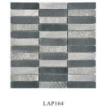 Square strip natural marble stone wall mosaic tile