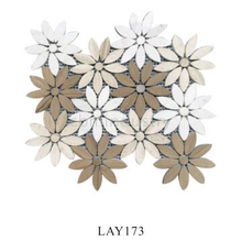 Beautiful Sun Flower Pattern Waterjet Stone Marble Mosaic Tile for Home Decoration