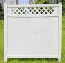 Lattice PVC fence