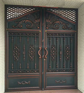Iron Art Entrance Courtyard Gate Villa European Retro Double Gate