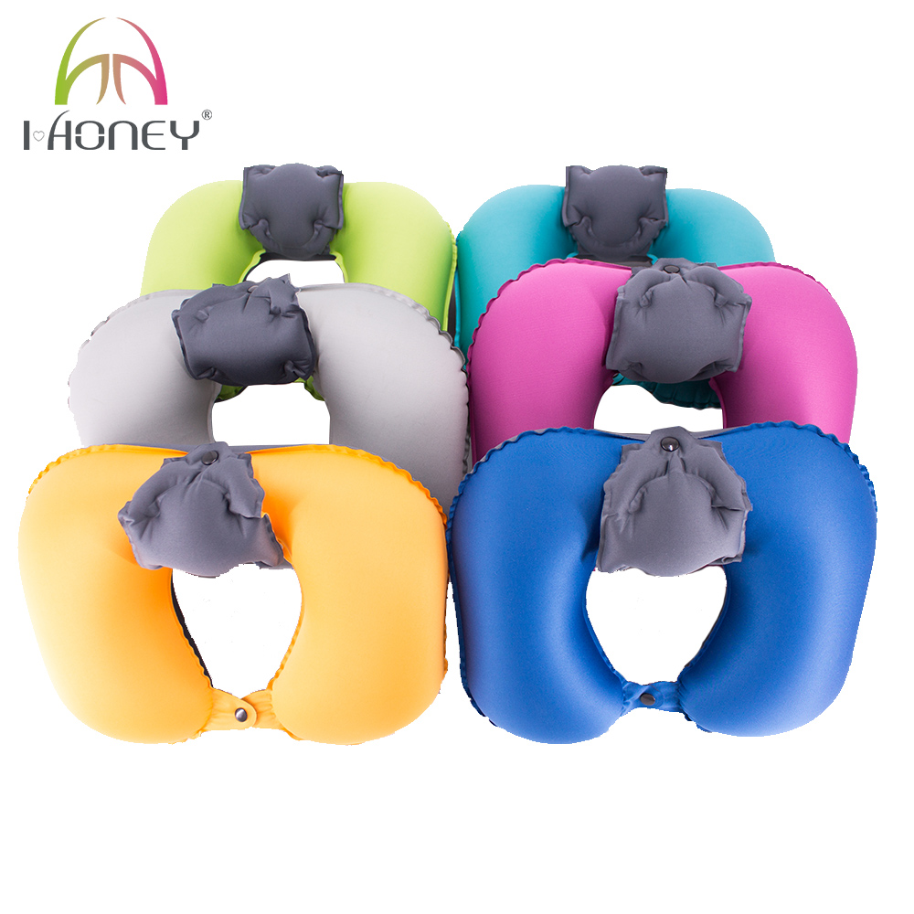 Ultra Light Inflatable Neck Pillow Air Travel Sleeping Pillow with Neck Pad
