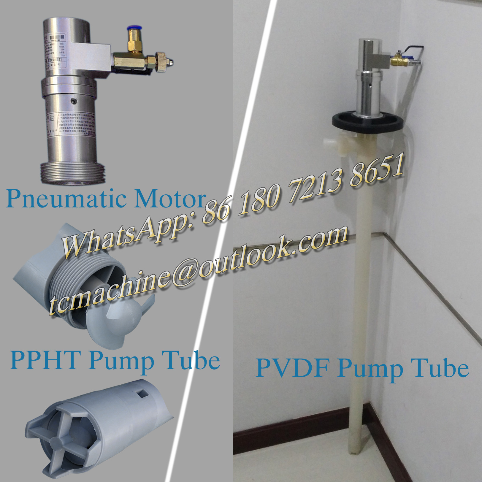 60L/min Portable Barrel Pump with Pneumatic Motor for Acetone