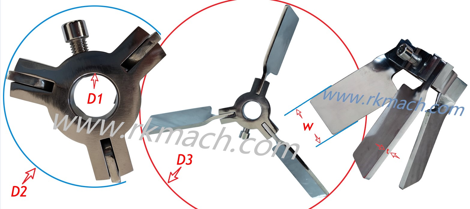 folding mixer foldable mixing blade