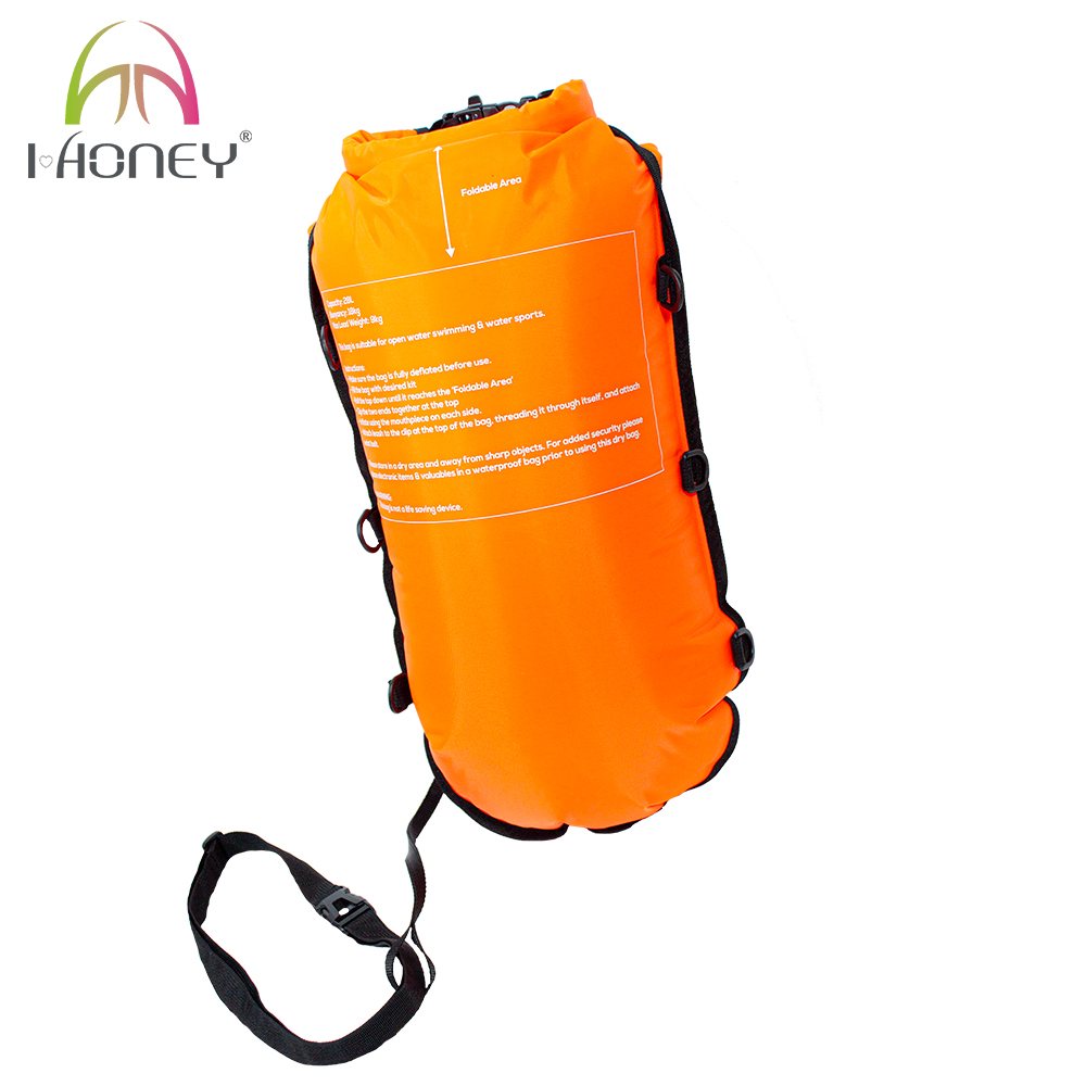 Portable Double Airbag Swim Waterproof Dry Bag with Backpack Set
