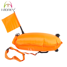 CSWP4011 Strong Nylon PVC Safety Tow Float Buoy with Flag and Check Valve for Open Water Swimming from Manufacturer