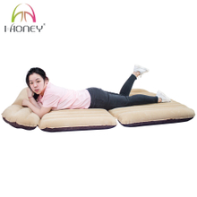 SUV Car Inflatable Mattress Flocked Airbed with Divisions