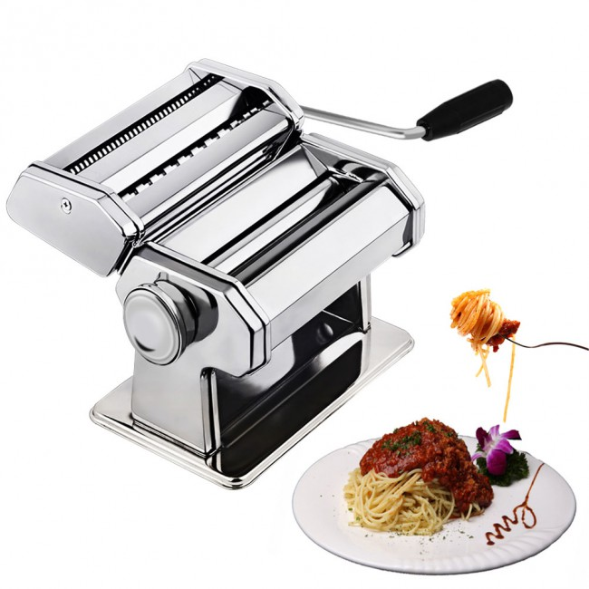 CHEFLY Sturdy Homemade Pasta Maker 9 Thickness Settings for Fresh Fettuccine Spaghetti Noodle Roller